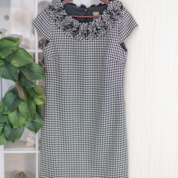 Macy's Dresses & Skirts - Macy's Taylor Black and White Houndstooth Dress